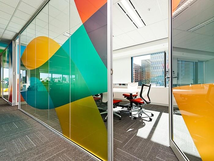 дизайн офиса перегородками